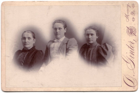 1880's J.S. Reed Family Cabinet Card Photo, Muncy, Lycoming County PA