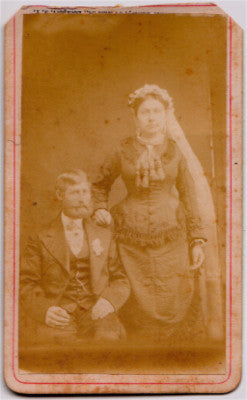 1870's Joachim Henry Panzenhagen Penzenhagen & Wife Wedding CDV Photo