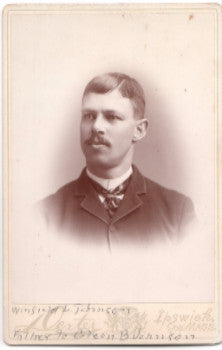 1880's Winfield Johnson Cabinet Photo, Waterford, Oxford County, Maine