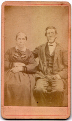 1860's Margaret & Archibald Bowen CDV Photo, Bloomington, Illinois