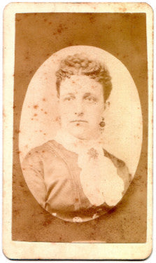 1870's Julia Brayton CDV Photo, Adams, Berkshire County, Massachusetts