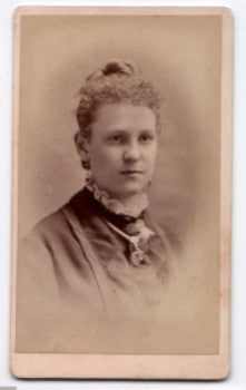 1875 Emma Nelson signed CDV Photo, Burlington, Des Moines County, Iowa