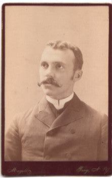 1880's Rev. Walter Laidlaw Cabinet Photo, Troy, Rensselaer County NY
