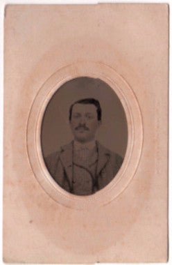 1860's Willis Bronson Civil War CDV Tintype Photo, Found in Maine