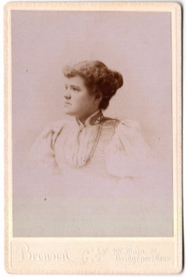 1880's May Dickinson Russell Cabinet Photo, Bridgeport, Fairfield CT