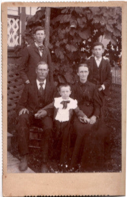 1880's Archibald Rowland Family Cabinet Card Photo, Grant County WV