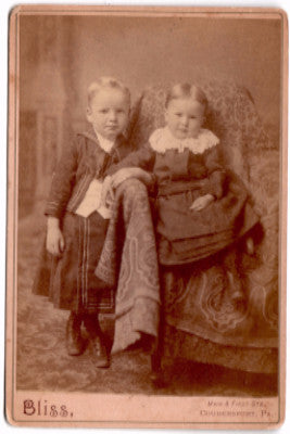 1880's Martin & Mattie Begell Cabinet Card Photo, Coudersport PA