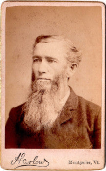 1870's William Berry CDV Photo, Montpelier, Washington County, Vermont