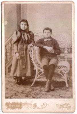 1890 Emily & William Glotzbach Photo, Rochester, Monroe County NY