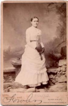 1888 Emma Huber Warfel Wedding Photo, wife Wyatt Warfel, Lancaster PA