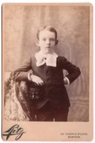 1888 Henry Grant Colony ID'd Cabinet Card Photo, Boston MA & Keene, NH