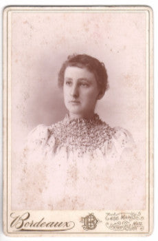 1880's Lillie A. Noble Cabinet Photo, Springfield, Hampden County Mass