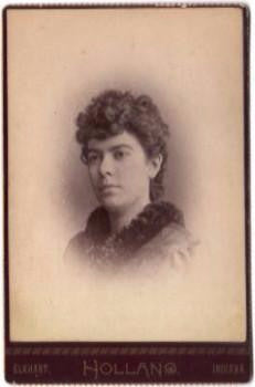 1891 Beryl Tousley McHenry Brown Cabinet Photo, Elkhart County Indiana
