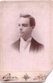 1893 Robert Tweedy Cabinet Card Photo, St. Louis County, Missouri MO