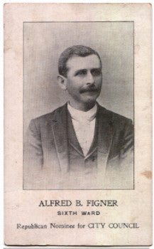 1890's Alfred B. Figner Photo Politician City Council Camden County NJ