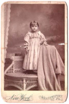 1880 Dorothy Shank Upedegraff Cabinet Photo, Williamsport PA, SAR, DAR
