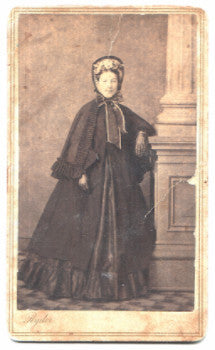 1860's Justina Margaret Dellenbaugh Martin Civil War CDV Photo, Ohio