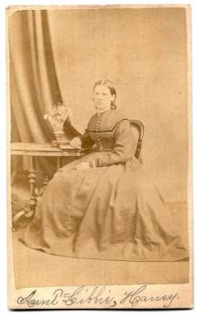 1860's Libbie Haney or Havey CDV Photo, Rockford, Winnebago County IL