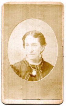 1872 Elizabeth Harvey Family ID'd CDV Photo, Delaware Water Gap PA