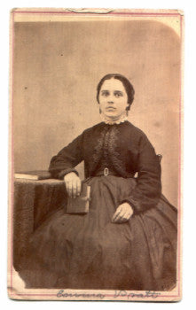 1860's Emma Pratt Civil War CDV Photo, Pontiac, Livingston County, IL