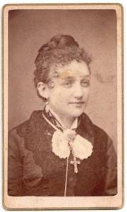 1870's Mrs. Smiley, Dr. Ogles Mother CDV Photo, Shippensburg, PA