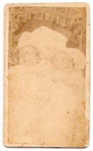 1870's Twins Freda & Forest Montgomery CDV Newborn Baby Photo