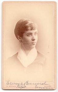 1880's Emma Siefert Emmel CDV Photo, Chicago, Cook County, Illinois