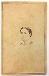 1860's Ruth Wilcox CDV Photo, Troy, Bradford County Pennsylvania PA