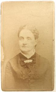 1880's Helen Jane Lampman Crocker CDV Photo, Vernon, Oneida County NY