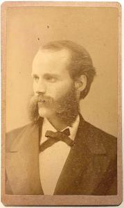 1870's Professor Hunt CDV Photo, Cazenovia College, Madison County NY