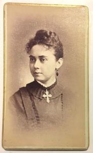 1877 Alice Stowell Photo, wife Dr Orland Jonas Brown, North Adams Mass