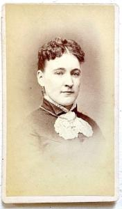 1877 Carrie Whitehouse Photo, wife Truman Cowles, Mass to Michigan