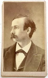 1870's Prof. Thatcher CDV Photo, Cazenovia College, Madison County NY