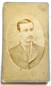 1800's Edwin Bechtel Yoder CDV Photo, Wadsworth, Medina County, Ohio