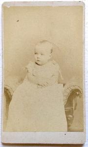 1879 Tom Valentine CDV Baby Photo, NYC by Samuel Archer Thomas