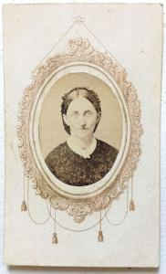 1860's Frank Tiffany CDV Photo, Onondaga County, Syracuse, New York