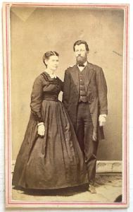 1860's Fannie Armitage Cross & husband James Cross Civil War CDV Photo