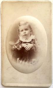 1876 Willie Andruss ID'd CDV Photo, Adrian, Lenawee County, Michigan