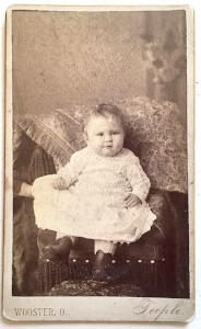 1885 Bessie Bosworth Brubaker CDV Photo, Wooster, Wayne County Ohio OH