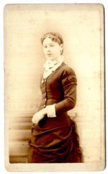 1880's Lizzie Kelly CDV Photo, Salem, Columbiana County, Ohio