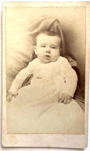 1800's Frederick Dodge CDV Baby Photo, Waukegan, Lake County, Illinois