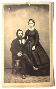 1860's Mr. & Mrs. Compton Family Photo, Watkins, Schuyler County NY