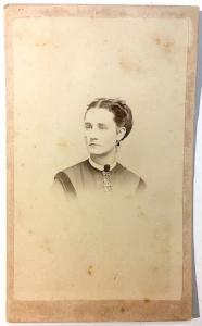 1860's Maggie Rolph (Rolfe) Photo, Avoca, Steuben County, New York NY