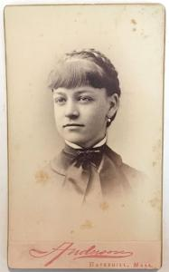 1880 Ellen Lang Wentworth CDV Photo, dau of G.A. Wentworth, Exeter NH