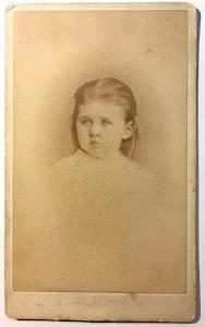 1875 Mary Frances O'Hare Sullivan CDV Photo, Cambridge, Middlesex, MA