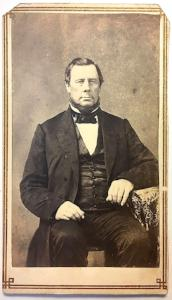 1860's Civil War era CDV Carte de Visite Photo of Uncle James Crosby