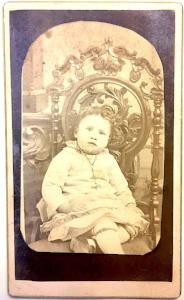 "1870's Elizabeth Foley ""Lizzie"" baby Photo, Cornwall, Ontario, Canada"
