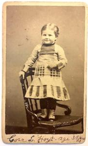 1881 Cora Louise Photo, dau of Rev. James Phillips Hoyt New Haven, CT