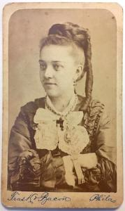 1870's Laura Corinda Filbert Day signed CDV Photo, Philadelphia, PA
