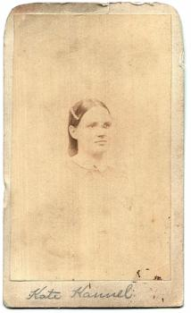 1860's Kate Kannel CDV Photo, Rockford IL Photographer Mrs. AA Rhodes